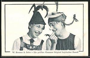 Ansichtskarte Komiker W. Baumer, Sohn, die grössten
