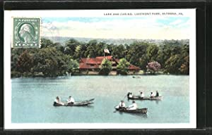Postcard Altoona, PA, Lakemont Park, Lake and