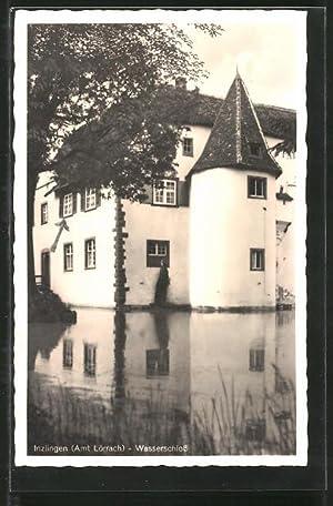 Ansichtskarte Inzlingen, Teilansicht vom Wasserschloss