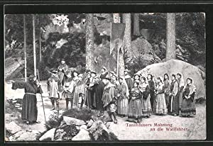 Ansichtskarte Wunsiedel, Bergfestspiel die Losburg, Tannhäusers Mahnung