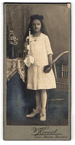 Fotografie W. Kornet, Bautzen, Portrait Mädchen in