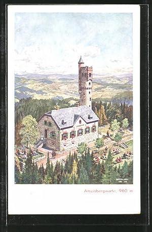 Ansichtskarte Lembach, Gasthaus Ameisbergwarte aus der Vogelschau