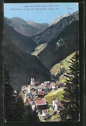 Cartolina Livinallongo, Buchenstein gegen die Marmolata