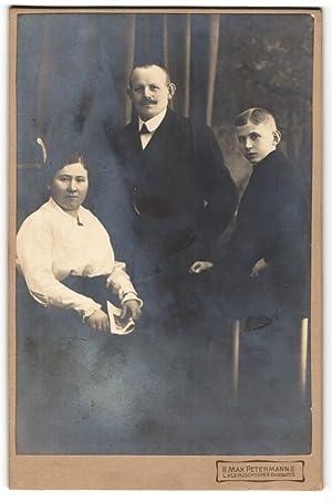 Fotografie Max Petermann, Leipzig-Kleinzschocher, Portrait bürgerliches Paar