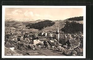 Ansichtskarte Langnau, Ortsansicht mit Kirche