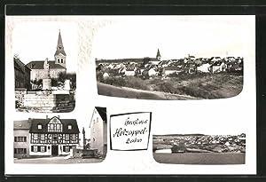 Ansichtskarte Holzappel-Lahn, verschiedene Teilansichten