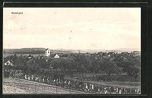 Ansichtskarte Koppigen, Ortspanorama mit Friedhof