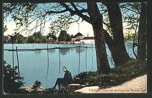 Ansichtskarte Lindow, Ortsansicht vom Kloster aus gesehen