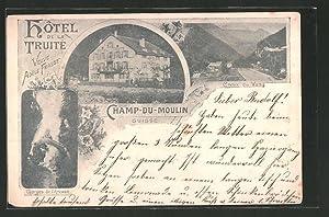 Ansichtskarte Champ-du-Moulin, Creux du Van, Hotel de