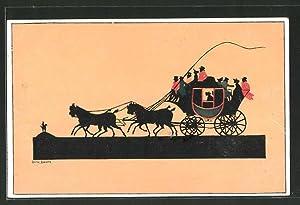 Künstler-Ansichtskarte sign. Dora Baum: Renn- und Fahrsport,