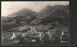 Ansichtskarte Melchthal, Teilansicht mit Kirche