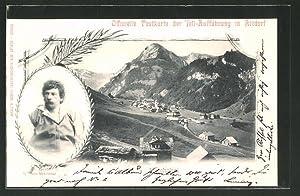 Ansichtskarte Altdorf, Tell-Aufführung, Darsteller Arnold von Melchthal,