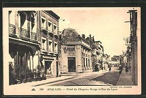 Carte postale Avallon, Hotel du Chapeau Rouge