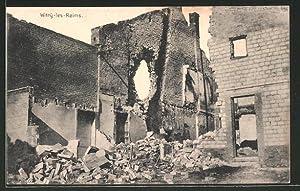 Carte postale Witry-les-Reims, maisons en ruines