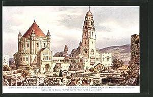 Künstler-Ansichtskarte Friedrich Perlberg: Marienkirche auf dem Sion