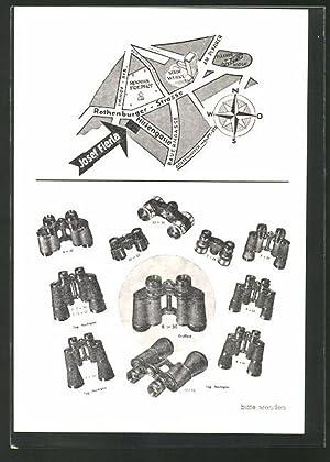 Ansichtskarte Nürnberg, Reklame Optik Grosshandel, Fabrikation Josef