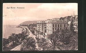 Cartolina San Remo, Teilansicht mit Hotel Paris