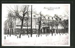 Ansichtskarte Kowno, Gebäude in der Kaiser Wilhemstrasse
