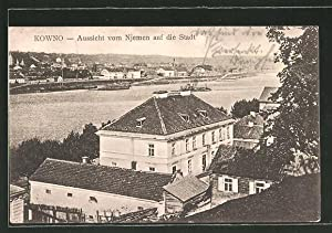 Ansichtskarte Kowno, Ortsansicht von Njemen aus