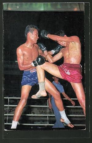Ansichtskarte Thai Boxing, Asiatischer Kampfsport