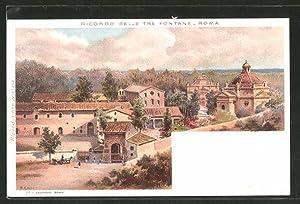 Artista-Cartolina Roma / Rome, Ricordo delle Tre