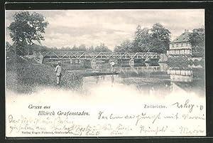 Carte postale Illkirch Grafenstaden, vue sur Zollbrücke