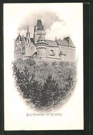 Ansichtskarte Korneuburg, Blick zur Burg Kreuzstein