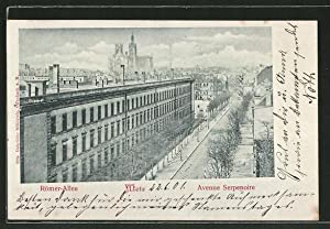 Great carte postale metz blick in die rmer allee with for Saint quentin code postal