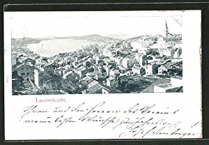 Ansichtskarte Lussinpiccolo, Ortspanorama mit Kirche