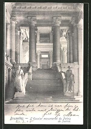Ansichtskarte Brüssel / Bruxelles, L'Escalier monumental du