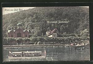 Ansichtskarte Bad-Ems, Cafe-Milchkur Sanitas