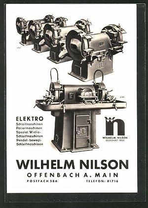 Ansichtskarte Offenbach, Wilhelm Nilson, Elektro-Schleifmaschinen