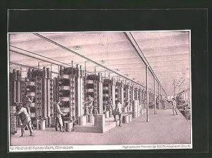 Ansichtskarte Wandsbeck, 10. Reichardt-Kakao-Werk, Hydraulische Pressen