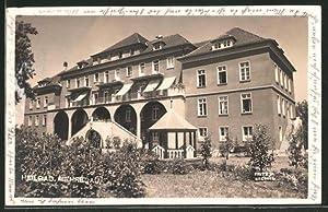 Ansichtskarte Mehrerau, Blick aufs Heilbad mit Gartenpavillon