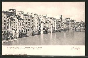 Cartolina Firenze, Tergo die Borgo S. Jacopo