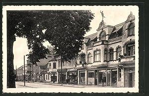 Ansichtskarte Kriescht, Bruchstrasse mit Geschäften