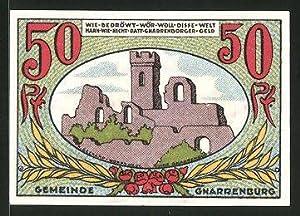 Notgeld Gnarrenburg, 50 Pfennig, Burgruine