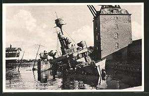 Ansichtskarte Pieder Skram 2 Torpedobaadene saenket ved