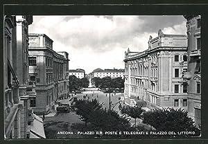 Cartolina Ancona, Palazzo R. R. Poste e