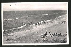 Ansichtskarte Greifenberg, Partie am Strand