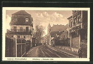 Ansichtskarte Leipzig-Kleinzschocher, Schlossweg mit Klotzsche-Villa