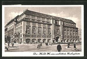 Ansichtskarte Berlin-Schöneberg, Strassenpartie am Kaufhaus Ka De