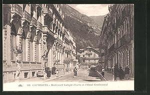 Carte postale Cauterets, Boulevard Latapie Flurin, Hôtel