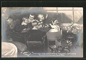 Ansichtskarte Erzherzoge Franz Josef, Ferdinand Max, Josef