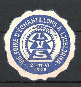 Reklamemarke Ljubljana, VIII. Foire d'Échantillons à Ljubljana