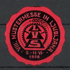 Reklamemarke Ljubljana, VIII. Mustermesse 1928, L.V.S