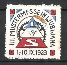 Reklamemarke Ljubljana, III. Mustermesse 1923, LVS