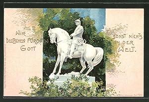 Künstler-Ansichtskarte Ulrich Weber: Denkmal Kaiser Wilhelm I.Bismarck