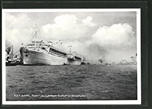 Ansichtskarte Hamburg, KdF-Elektro-Schiffe Robert Ley und Wilhelm