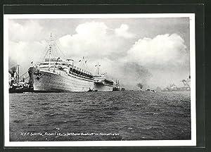 Ansichtskarte Hamburg, Motiv mit KdF-Elektro-Schiffen Robert Ley